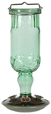 Perky-Pet 8120-2 Green Antique Bottle Hummingbird Feeder