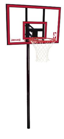 "Spalding NBA In-Ground Basketball System - 44"" Polycarbonate"