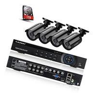 Floureon 8CH 1080N AHD 720P DVR Video Surveillance System +