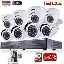 ZOSI 8CH CCTV System Kit 960H Recording Home Security