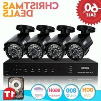 ZOSI 8CH 720P DVR Recording Smart Surveillance System kit