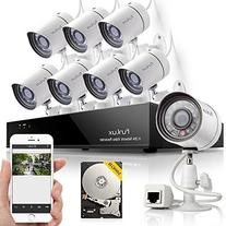 Funlux® 8CH NVR 720P HD Night Vision IP Surveillance Camera