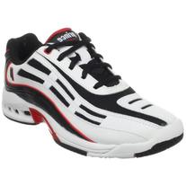 Prince Kids' 8P365166-Rebel Jr Tennis Shoe,White/Black/Red,4