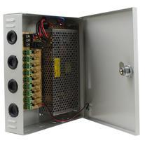 AGPtek 9 Output 12V 10A DC CCTV Distributed Power Supply Box