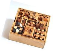 9 Puzzle Set , Games & Puzzles, Wooden Puzzle Box Set, Great