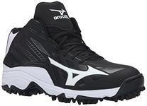 Mizuno Men's 9 Spike ADV Erupt 3 Mid Softball Cleat, Black/