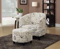 Coaster Home Furnishings 900210 Accent Chair and Ottoman in