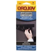 VELCRO® Brand 90593 Industrial Strength Hook & Loop Fastener Tape - 2 Width x 4 ft Length - Self-adhesive, Water Resistant - 1 Roll - Black
