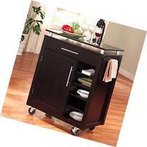 Coaster Home Furnishings 910012 Transitional Kitchen Cart, Black