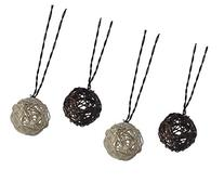 Moonrays 91131 Solar Powered LED Rattan Globe String Lights