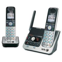 AT&T 92270 DECT 6.0 Cordless Phone, Silver/Black, 2 Handsets