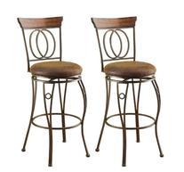 ACME 96046 Set of 2 Tavio Swivel Bar Chair, 29-Inch