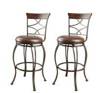 ACME 96050 Set of 2 Tavio Swivel Bar Chair, 29-Inch