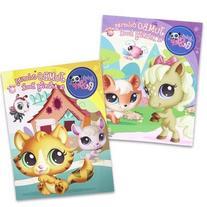 2 Pack 96pg Littlest Pet Shop Coloring Book - Assorted