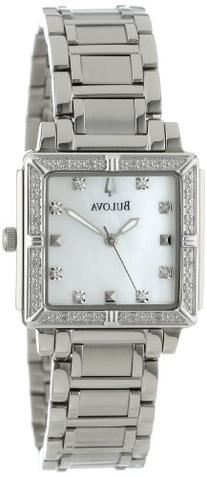 Bulova Women's 96R107 Stainless Steel and Mother-of-Pearl