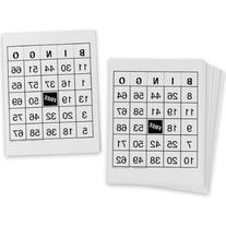 Nasco SN35803 Laminated Bingo Cards