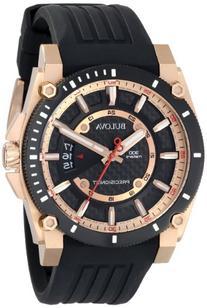 Bulova Men's 98B152 Precisionist Analog Chronograph Black