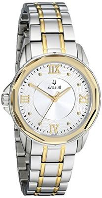 Bulova Women's 98L166 Dress Two-Tone Round Stainless Steel