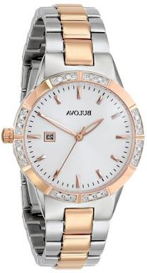 Bulova Women's 98R169 Two-Tone Watch with Diamond-Accented