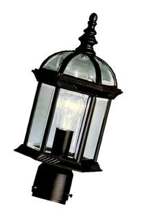 Kichler 9935BK Barrie Outdoor Post Mount 1-Light, Black