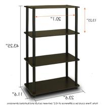 Furinno 99557EX/BK Turn n Tube 4-Tier Multipurpose Shelf