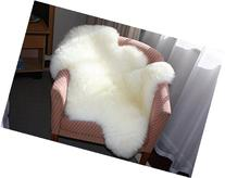 A-STAR  Ivory White Real Sheepskin Rug Single Pelt - 2ft x