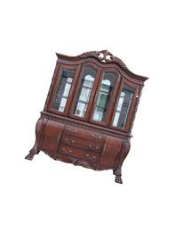 ACME 60270 Quinlan Hutch and Buffet China Cabinet, Cherry