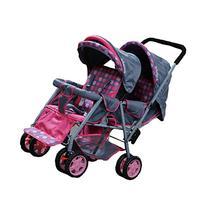 ADELINA Designer Double Stroller, Pink
