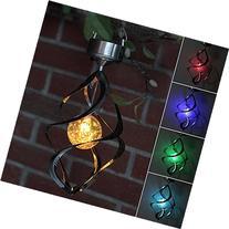 AGPtEK® Solar Power light Wind Spinner LED Light Outdoor