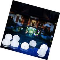 AGPtek Steady On Mood Light Garden Deco LED Floating Round