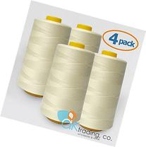 AK-Trading 4-Pack IVORY Serger Cone Thread  of Polyester