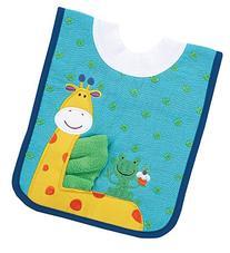 AM PM Kids! Pullover Bib with Washcloth, Giraffe