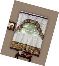 Achim Home Furnishings Coffee Tier and Swag Window Treatment