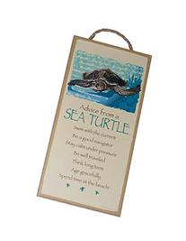 Advice from a Sea Turtle Novelty, Inspirational 5x10 Wood