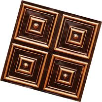 Affordable Ceiling Tile #112 Antique Copper Modern 2x2 Glue
