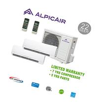 AlpicAir +Multi Dual-Zone Ductless Mini-Split System 18,000