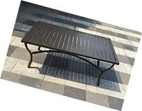 Aluminum Slat Top Patio Coffee Table - Bronze