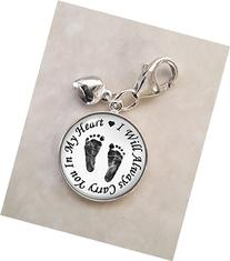 Always In My Heart Miscarriage .925 Sterling Silver Charm