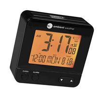 Ambient Weather RC-8300 Atomic Travel Compact Alarm Clock