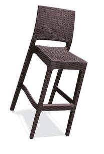 ATC Florida Resin All-Weather Stackable Ergonomic Barstool,