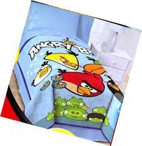 Angry Birds Blanket Twin / Full 62 X 90 Micro Raschel ~ Over