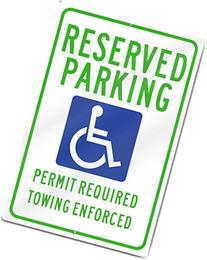 Arkansas12x18 Metal ADA Reserved Parking, Permit Required 12