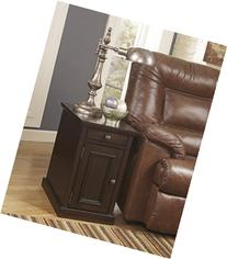 Ashley T127-551 Power Chairside End Table In Sable Finish