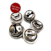 Aspire Silver Crafted Bells, Festival Ornaments, 20mm,