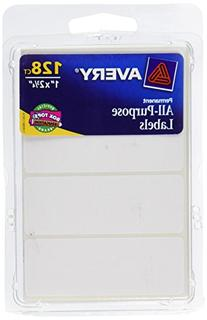 Avery All-Purpose Labels, 1 x 2.75 Inches, White, Pack of