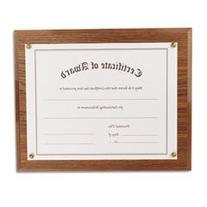 - Award-A-Plaque Document Holder, Acrylic/Plastic, 10-1/2 x