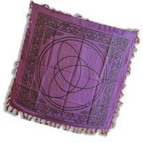 AzureGreen RAC36 Purple Triquetra Altar Cloth 36 in. X 36 in