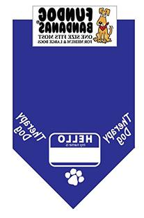 BANDANA - Nametag Therapy Dog for Medium to Large Dogs -