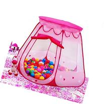 BATTOP Pink Princess Tent Indoor and Outdoor 1-8 Years Old