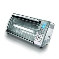 BLACK+DECKER Countertop Convection Toaster Oven, Silver,